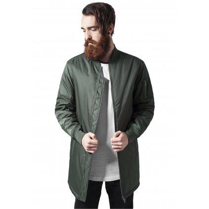 Long Bomber Jacket olive