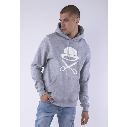 Pánska mikina  C&S PA Icon Hoody grey heather/white