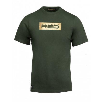 Tričko  DOUBLE RED  T-Shirt GOLD FOREVER Army Green