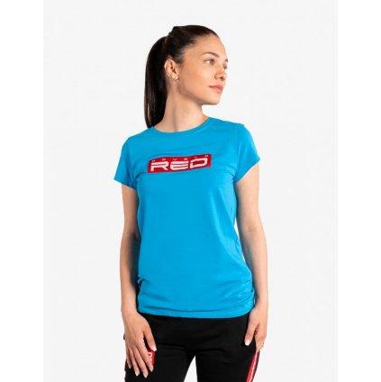 Tričko  DOUBLE RED  Women's T-Shirt Basic Blue