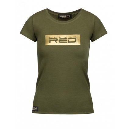 Tričko  DOUBLE RED  Women's T-Shirt GOLD FOREVER Olive