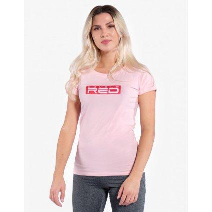 Tričko  DOUBLE RED  Women's T-Shirt Basic Pink