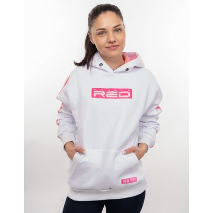 Mikina  DOUBLE RED  OUTSTANDING FCK COVID LIMITED EDITION Hoodie White/Pink