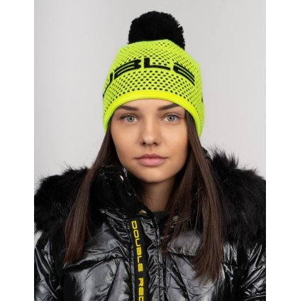Čiapka  DOUBLE RED  NISEKO Neon Yellow Unisex Winter Cap