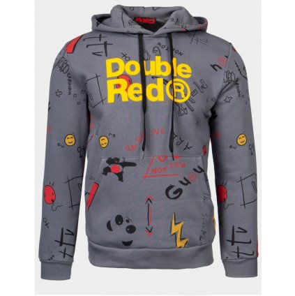 Mikina  DOUBLE RED  DOUBLE FUN TRADEMARK Hoodie Grey