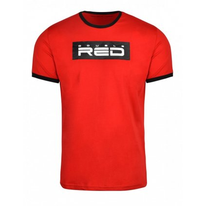 Tričko  DOUBLE RED  T-Shirt LOGO VISION Red/Black