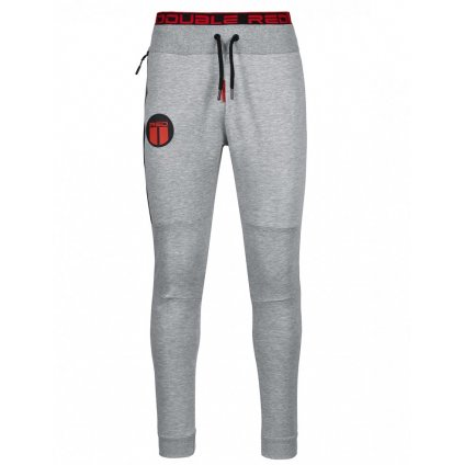 Tepláky  DOUBLE RED  Sweatpants Sport Is Your Gang Melange Light Grey