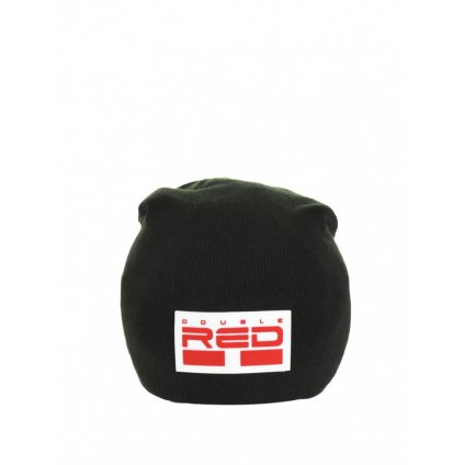 Čiapka  DOUBLE RED  DNA RED BEANIE Black