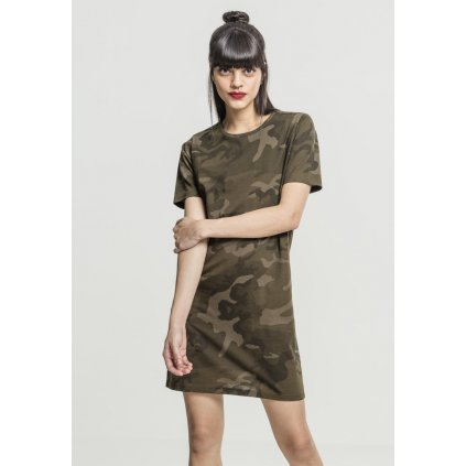 Tepláky  Ladies Camo Tee Dress olive camo