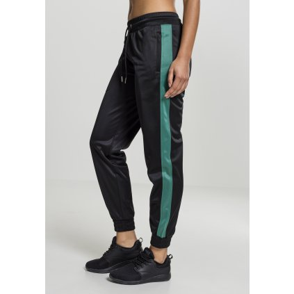 Tepláky  Ladies Cuff Track Pants black/green