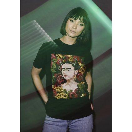 Dámske tričko  Ladies Frida Kahlo Portrait Tee black