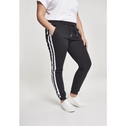 Tepláky  Ladies College Contrast Sweatpants black/white/black