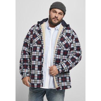 Hooded Polar Fleece Overshirt midnightnavy/red