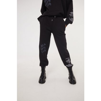 Tepláky  SELF LOVE CLUB BOYFRIEND JOGGERS BLACK