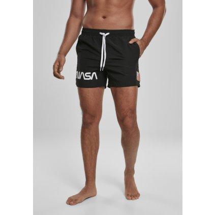 Krátke nohavice  NASA Worm Logo Swim Shorts black