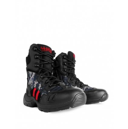 DOUBLE RED  Topánky Combat Digital Black