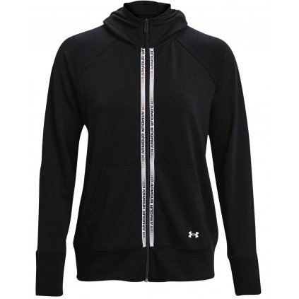 Dámská mikina Under Armour Rival Terry Taped FZ Hoodie
