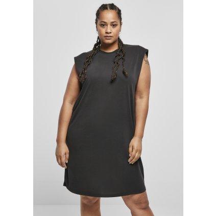 Ladies Modal Padded Shoulder Tank Dress black