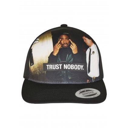 Šiltovka  Tupac Trust Nobody Retro Trucker black
