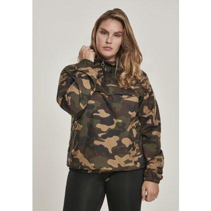 Bunda  Ladies Camo Pull Over Jacket woodcamo