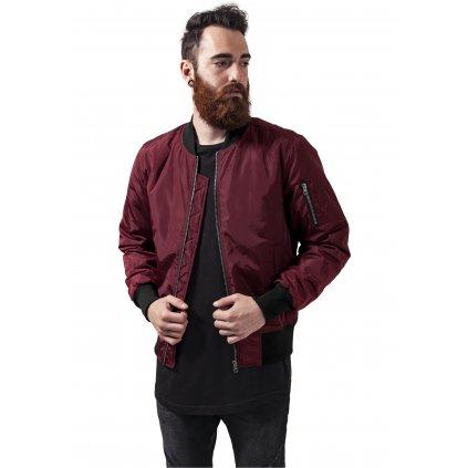 2-Tone Bomber Jacket burgundy/black