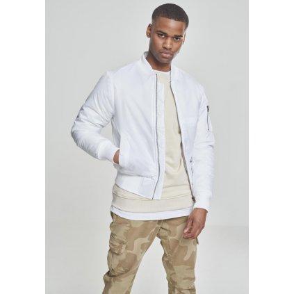 Basic Bomber Jacket white