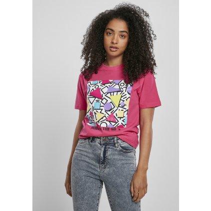 Dámske tričko  Ladies Geometric Retro Tee hibiskus pink