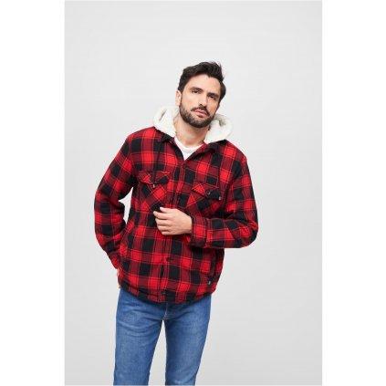 Lumberjacket hooded red/black