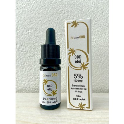 Zlatý CBD olej 5% full spectrum 10 mlCBD olej 5
