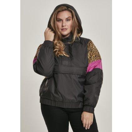 Bunda  Ladies AOP Mixed Pull Over Jacket black/leo