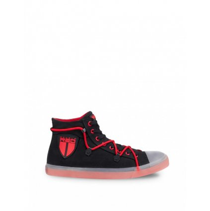 DOUBLE RED  SPIDEX CANVAS Shoes Black/Red