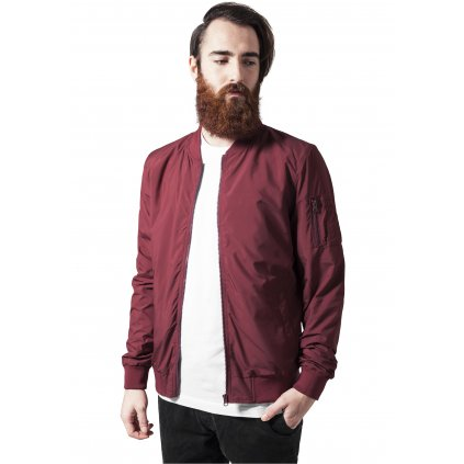 Pánska bombera Light Bomber Jacket burgundy