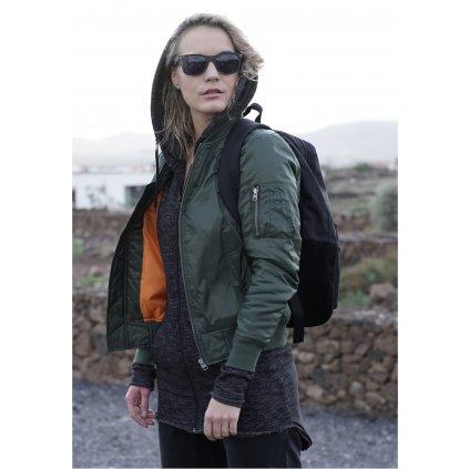 Dámska bombera Ladies Basic Bomber Jacket olive