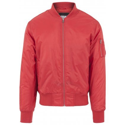 Pánska bombera Basic Bomber Jacket fire red