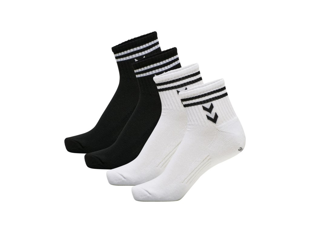 HUMMEL 213261 - Ponožky hmlSTRIPE 4-PACK MID CUT SOCKS MIX