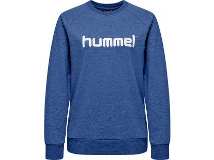 HUMMEL 203519-Mikina GO COTTON LOGO W.