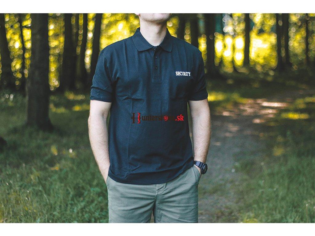 506f712dc Mil-Tec Bavlnená SECURITY polokošeľa - čierna - Hunterstore.sk