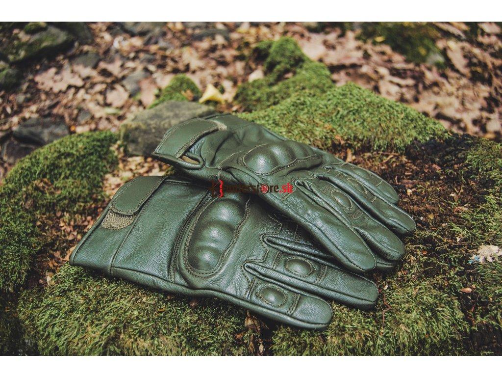 53678fd729a Rukavice kožené Mil-Tec Tactical - olivové