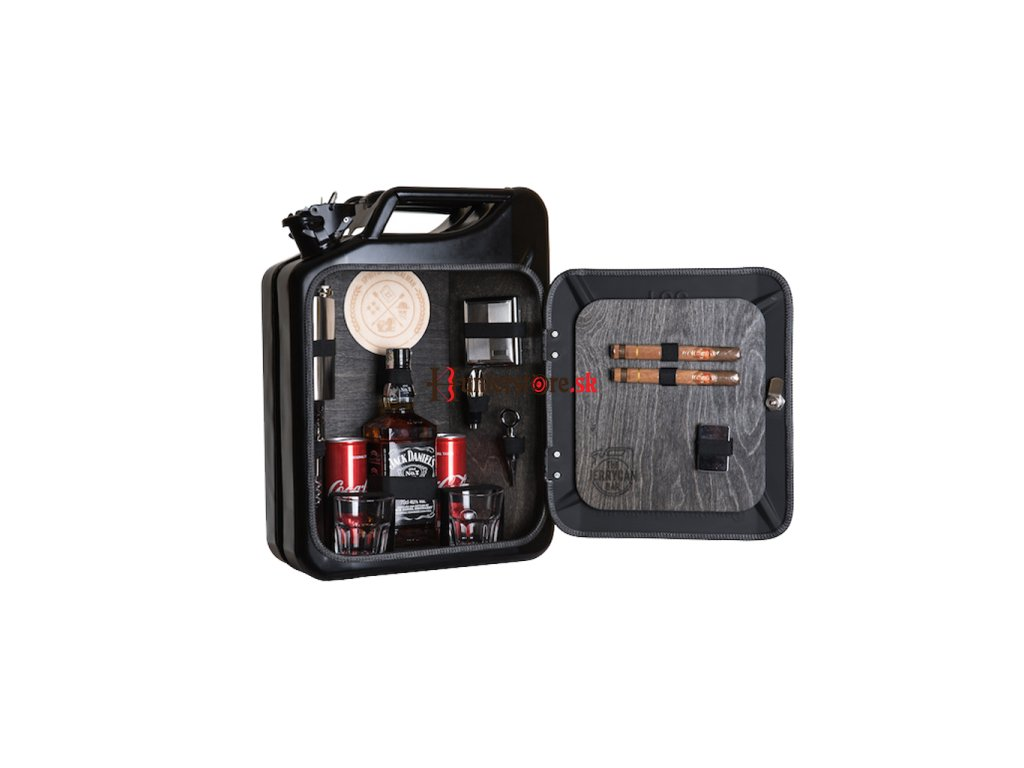 hero 84390 The Jerry Can Bar Spirit of the Real Man original gift for man geshenk fur mann darcek pre muza 800px Black open front 1 unsmushed