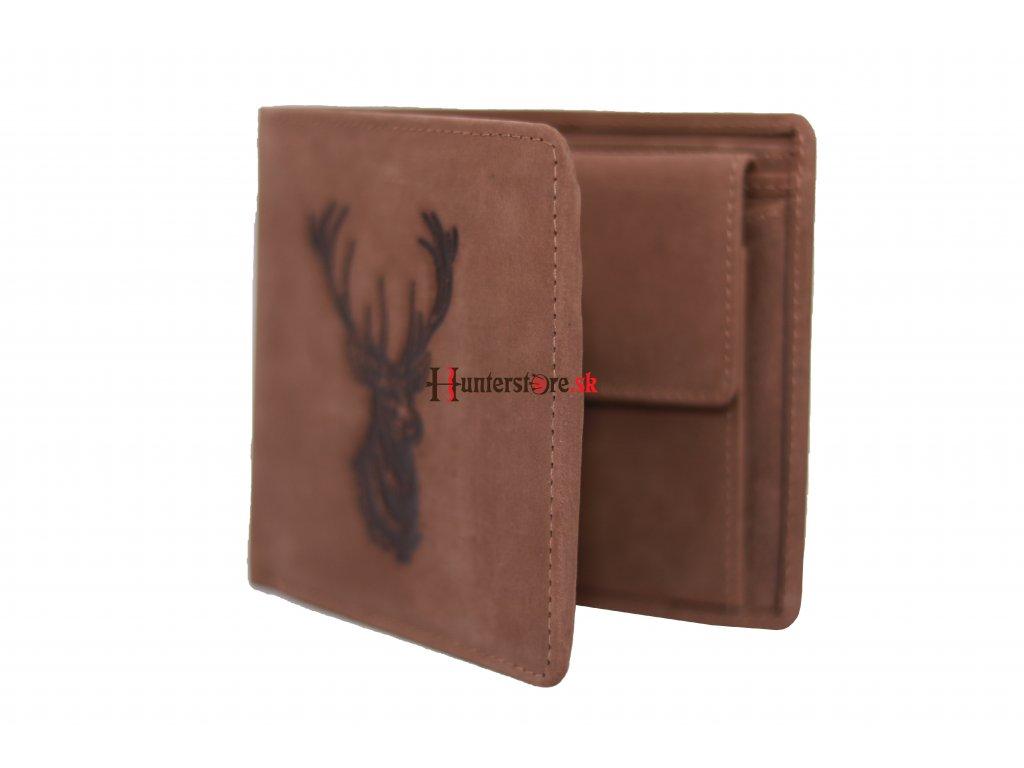 Kožená peňaženka - jelenia hlavad2