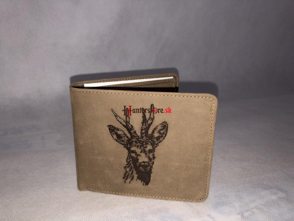 Kožená peňaženka - Srnčia hlava