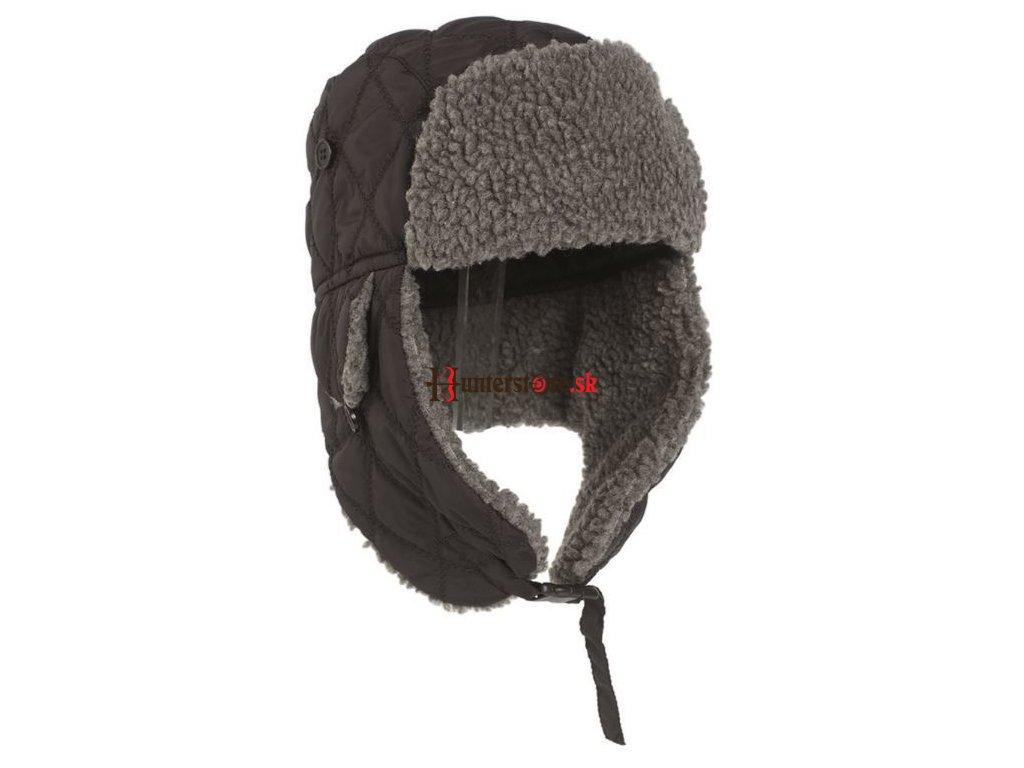 eng pl BLACK WINTER CAP WITH FAUX FUR 4093 1