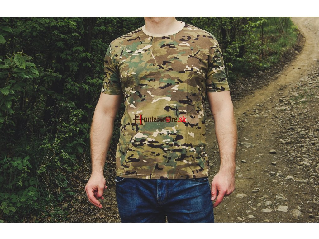 2b11968f8 maskáčové tričko. 1 z 3. pánske tričko s krátkym rukávom Tričko Mil-Tec  Multitarn