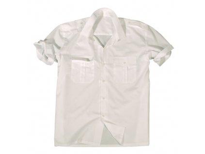 Košeľa SERVIS krátky rukáv na gombíky BIELA