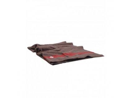 svajciarska vlnena deka 200x140 cm hneda