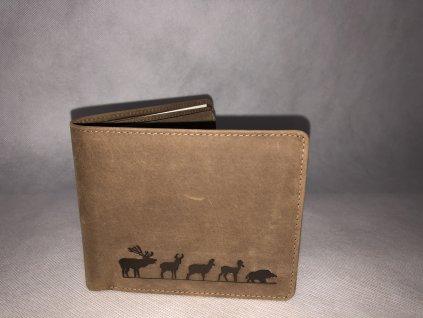 Kožená peňaženka- Lovu zdar