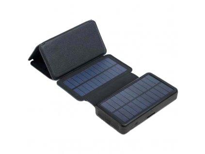 Solárny panel 9W s powerbankou 20000mAh (74Wh), výstup: USB 2x 5V, 2A