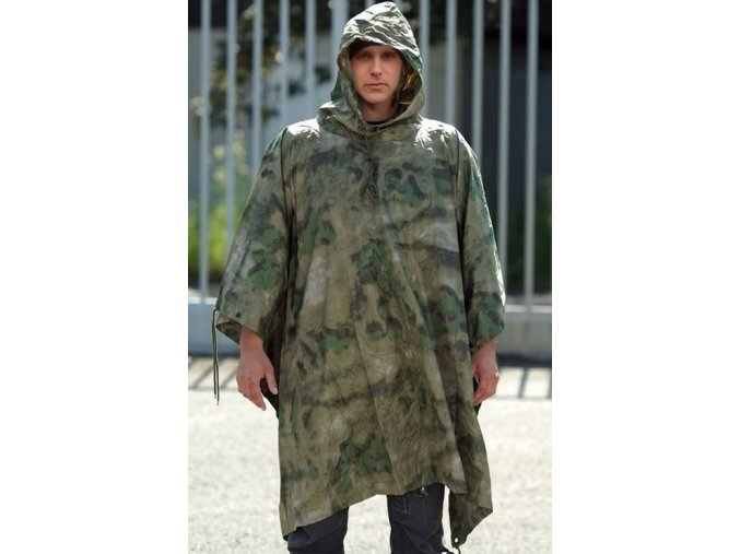 eng pl Mil Tacs FG RIPSTOP WET WEATHER PONCHO 2755 1