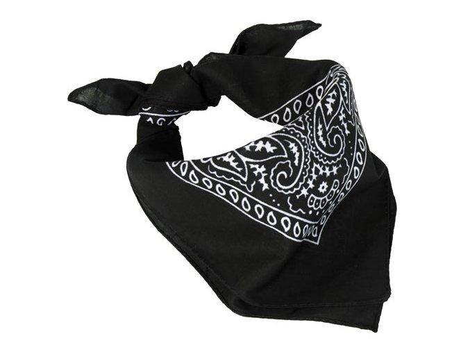 Šatka Western Bandana - čierna
