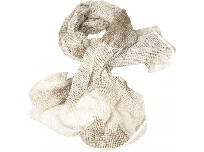 Sieťovaný maskovací šál, biely